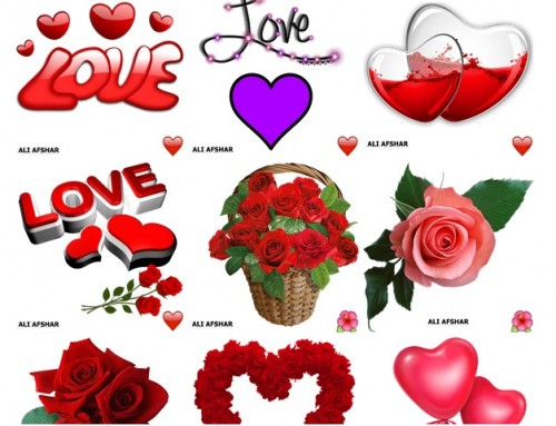 72 استیکر عاشقانه در گالری عشق